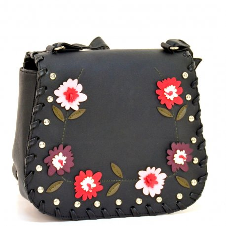 Cross Floral Negro