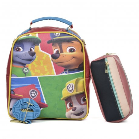 Duo Mochila Melly Paw Amigos con cosmetiquera  multicolor