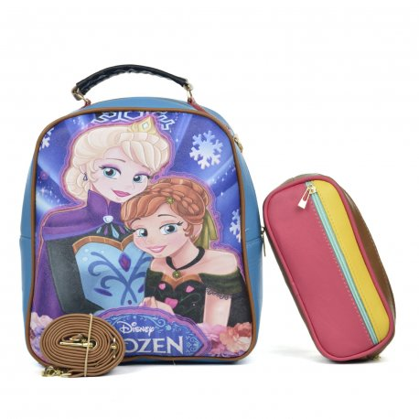 Duo Mochila Melly Copo de Nieve con cosmetiquera multicolor