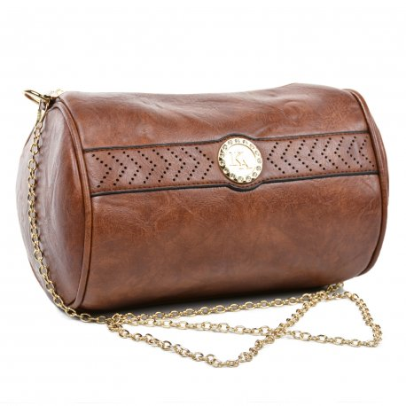 Crossbody Cilindro Marron Oscuro